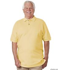 Silvert's 504900502 Mens Regular Knit Polo Shirt , Size Medium, YELLOW