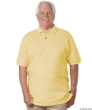 Silvert's 504900503 Mens Regular Knit Polo Shirt , Size Large, YELLOW