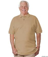 Silvert's 504900303 Mens Regular Knit Polo Shirt , Size Large, BEIGE