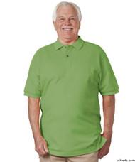 Silvert's 504900205 Mens Regular Knit Polo Shirt , Size 2X-Large, GREEN