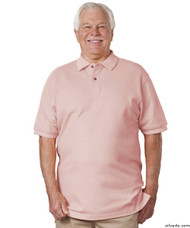 Silvert's 504900105 Mens Regular Knit Polo Shirt , Size 2X-Large, PINK