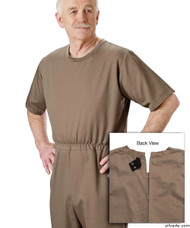 Silvert's 508300302 Mens' Alzheimers Clothing , Size Small, TAUPE