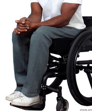 Silvert's 509400502 Fleece Adaptive Wheelchair Pants For Men , Size Small, GREY