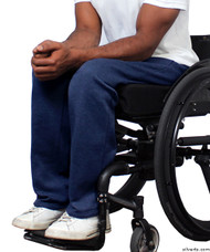 Silvert's 509400103 Fleece Adaptive Wheelchair Pants For Men , Size Medium, NAVY
