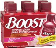 Nestle Nutrition 9523317 Boost Shake Strawberry 237ml (8oz) bottles 24/Case