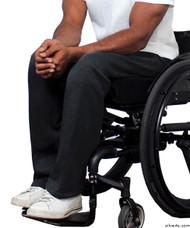 Silvert's 509410206 Fleece Adaptive Wheelchair Pants For Men , Size 2X-Large, BLACK