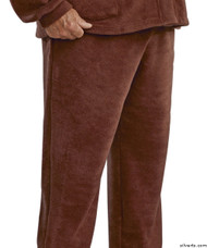 Silvert's 518100504 Mens Easy Access Clothing Polar Fleece Pants , Size Large, BROWN