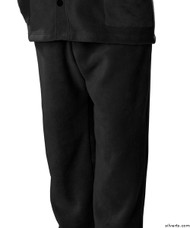 Silvert's 518100104 Mens Easy Access Clothing Polar Fleece Pants , Size Large, BLACK