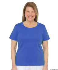 Silvert's 131500502 Womens Short Sleeve Crew Neck T Shirt, Size Medium, ROYAL BLUE
