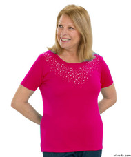Silvert's 131900204 Stylish Cotton Short Sleeve Tee Shirt, Size X-Large, FUSCHIA