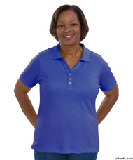 Silvert's 132100402 Short Sleeve Polo Style Tshirt, Size Medium, ROYAL BLUE