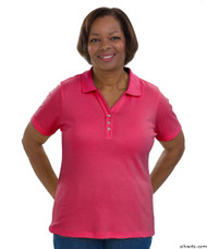 Silvert's 132100203 Short Sleeve Polo Style Tshirt, Size Large, FUSCHIA
