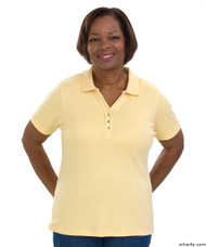 Silvert's 132100503 Short Sleeve Polo Style Tshirt, Size Large, YELLOW