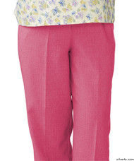 Silvert's 232200301 Womens Adaptive Open Back Wheelchair Pants , Size Small, CORAL