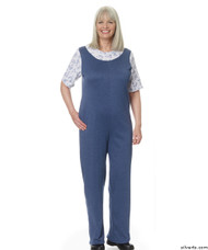 Silvert's 233200203 Womens Adaptive Alzheimer's Clothing Antistrip Suits Pajamas , Size Medium, DENIM