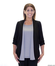 Silvert's 233700103 Womens Fashionable Adaptive Top , Size Large, BLACK