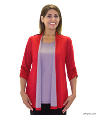 Silvert's 233700203 Womens Fashionable Adaptive Top , Size Large, RED