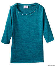 Silvert's 235100202 Lovely Adaptive Top For Women, Size Medium, TEAL