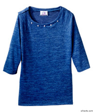 Silvert's 235100303 Lovely Adaptive Top For Women, Size Large, ROYAL