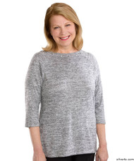 Silvert's 235110102 Lovely Adaptive Top For Women, Size 3X-Large, GRAY