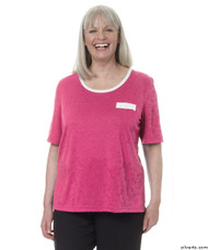 Silvert's 236600104 Womens Adaptive Crew Neck Tshirt , Size X-Large, RASPBERRY