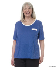 Silvert's 236610301 Womens Adaptive Crew Neck Tshirt , Size 2X-Large, COBALT