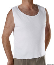 Silvert's 280250104 Mens Adaptive Clothing , Size Large, WHITE