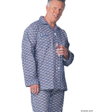 Silvert's 500900104 Cotton Pyjamas For Senior Men, Size Large, ASSORTED PRINTS