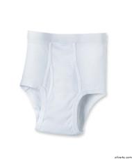 Silvert's 502500102 Mens Regular Cotton Briefs, Size Small, WHITE