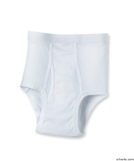 Silvert's 502500103 Mens Regular Cotton Briefs, Size Medium, WHITE