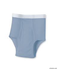 Silvert's 502510203 Mens Regular Cotton Briefs, Size 3X-Large, BLUE