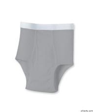 Silvert's 502510304 Mens Regular Cotton Briefs, Size 4X-Large, GREY