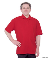 Silvert's 504300603 Mens Regular Knit Polo Shirt, Short Sleeve, Size Large, RED