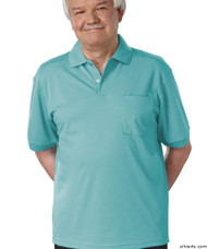 Silvert's 504300204 Mens Regular Knit Polo Shirt, Short Sleeve, Size X-Large, POWDER