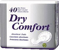 TENA 61214 DRY COMFORT DAY HEAVY PADS, WHITE (box of 40)