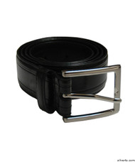 Silvert's 508510114 Men's Assorted Leather Belts, Size 54, BLACK