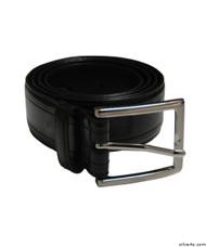 Silvert's 508510117 Men's Assorted Leather Belts, Size 60, BLACK