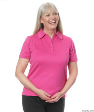 Silvert's 136600101 Womens Polo Shirt For Seniors , Size Small, MAGENTA
