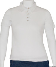Silvert's 136600303 Womens Polo Shirt For Seniors , Size Large, WHITE