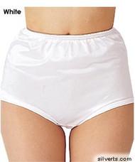 Silvert's 180300104 Womens Nylon Briefs , Size Large, WHITE
