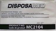 "Disposamed MC2104 DISPOSAMED NON-WOVEN SPONGE 4""x4"" 200/pkg"