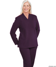 Silvert's 252500403 Plus Size Adaptive Tracksuit For Women , Size Large, PLUM