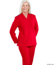 Silvert's 252510201 Plus Size Adaptive Tracksuit For Women , Size 2X-Large, RED