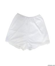 Silvert's 19520102 Womens Flare Leg Bloomers, Size Medium, WHITE