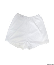 Silvert's 19520104 Womens Flare Leg Bloomers, Size X-Large, WHITE