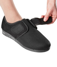 Silvert's 100400105 Womens Size 12 Comfortable Indoor/outdoor Shoe Slippers With Adjustable Closures, Size 9, BLACK