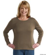 Silvert's 132200203 Womens Regular Crew Neck TShirt Top , Size Large, OREGANO