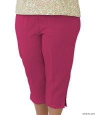 Silvert's 233400202 Womens Adaptive Capri Pants , Size Medium, ORCHID