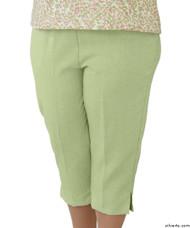 Silvert's 233400503 Womens Adaptive Capri Pants , Size Large, GREEN