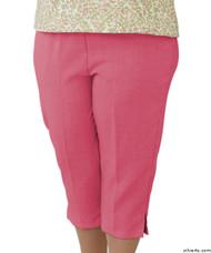 Silvert's 233400303 Womens Adaptive Capri Pants , Size Large, CORAL